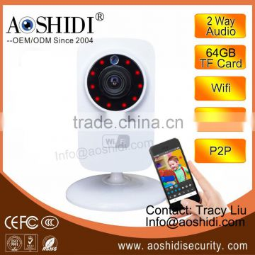 SD Card Storage 720P Night Vision HD WiFi Smart Home Camera