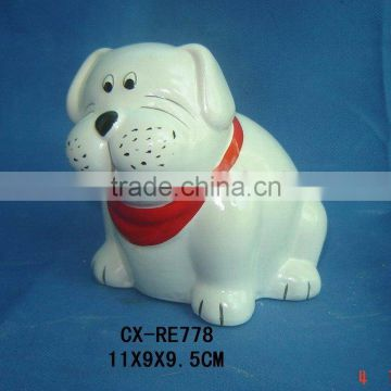 ceramic dog saving bank