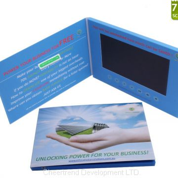 Quality primacy latest design paper 7 inch video brochure