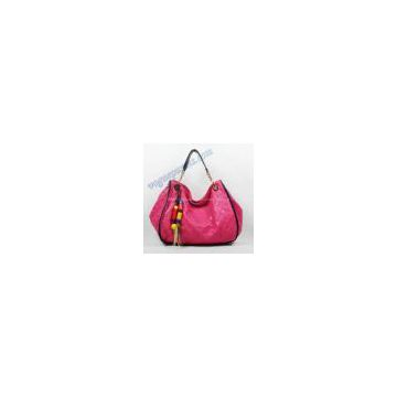 Louis Vuitton lv Embossed Leather whisper large bag rose red