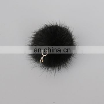 4cm mink fur pom pom accessory for phone case/keychain decoration