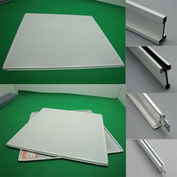 Maple Grain Aluminum Gusset Integrated Ceiling Bank