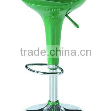 Hot-selling high quality green Bar stool with FRP seater, chromed stool and base