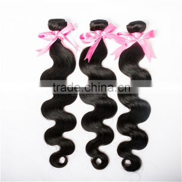 WJ001 Brazilian 100 unprocessed virgin body wave hair natural black                                                                                                         Supplier's Choice