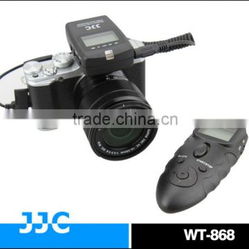 JJC Dual LCD Display WT-868 2.4G versatile RR-90 wireless timer remote control & wired remote switch For FUJIFILM XQ1 X-E2 etc
