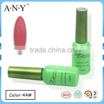 ANY New Arrival Hot Sale Limited Nail Gel Lacquer Long-Lasting LED Soak Off Gel Nail Polish 44#