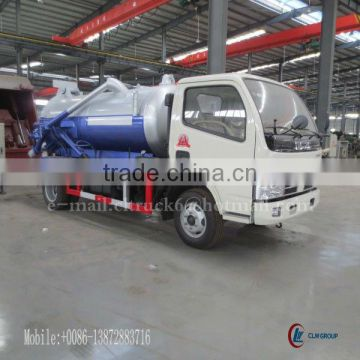 DONGFENG FRK 4*2 Mini Sewage Suction Truck 3000L
