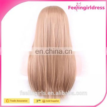 High Quality Golden Long Fibre Lace Wig Wig Factory Under $5
