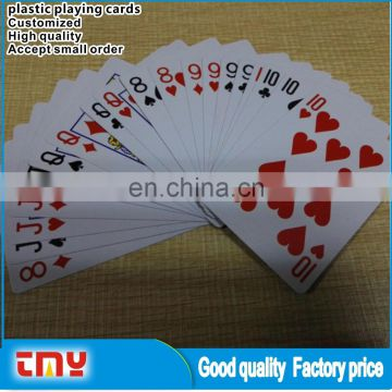 Customized Adult Plastic Playing Card Waterproof Plastic Playing Card Wholesale TMY-001