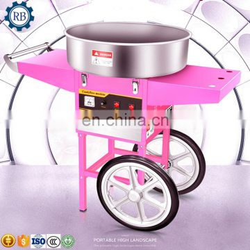 Fancy cotton candy machine Marshmallow machine with cart