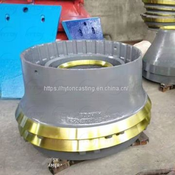 Mantle And Concave Suit Sandvik Single Cylinder Cone Crusher CH660 Spare Parts