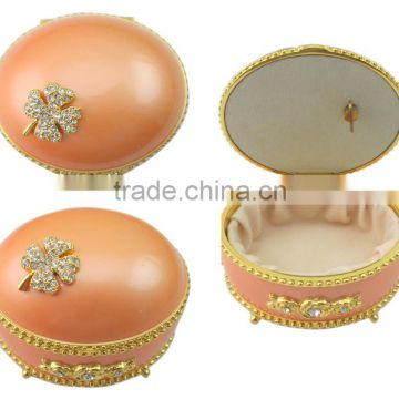 High quality Elegant Musical Box with rhinestones crystals enamel decoration and various colors