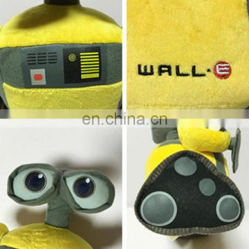 cartoon character wall-E plush car toy yellow robot big eyes