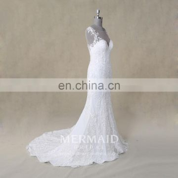luxury wedding gown new lace mermaid wedding dress