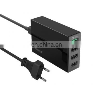 Factory Stock Quick Charger, Drop Shipping 4 USB 2.0 Port Charger 5V2.4A 9V2A 12V1.5A for Smartphones Tablets Power Banks