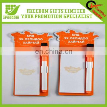 Customized Promotional Magnetic Memo Pad With Pen