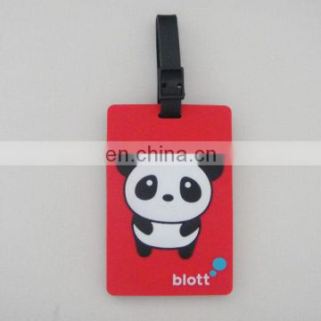 Cute Panda Design Soft PVC Luggage Tag, Bag Label Name And Address ID Contact Suitcase Baggage Secure