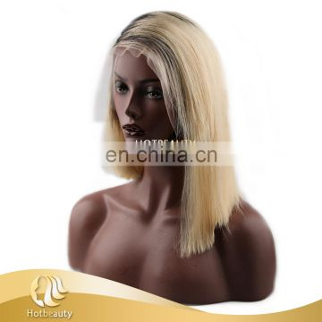 blonde color 613 virgin quality human hair wig 150% density