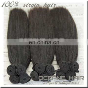 Top selling free sample large stock factory price new arrival most fashionable virgin human hair extension