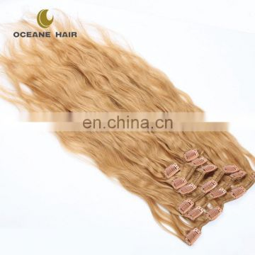 clip in hair extension vigin brazilian hair clip in hair