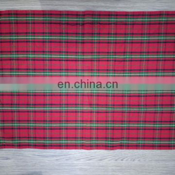 Christmas check yarn dyed tea towel