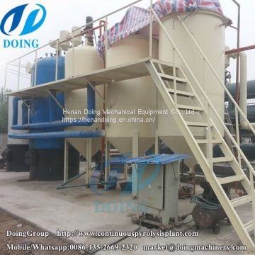 What is the working process of waste engine oil recycling to diesel machine ?