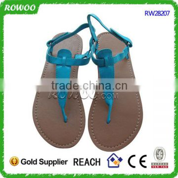 Simple Leather low price ladies sandals shoes for women