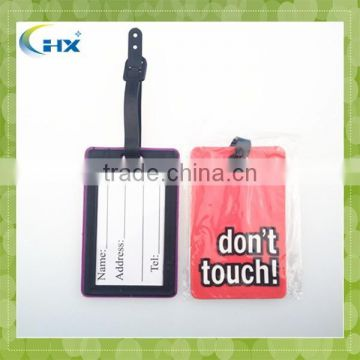 Manufacturer Suppliers soft pvc luggage tag,personalized pve travel luggage tag