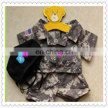 high quality teddy bear's military uniform