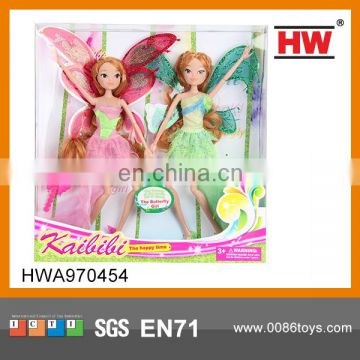 Best Selling 11.5 '' Plastic Beautiful Doll Angel Wings l for Kids