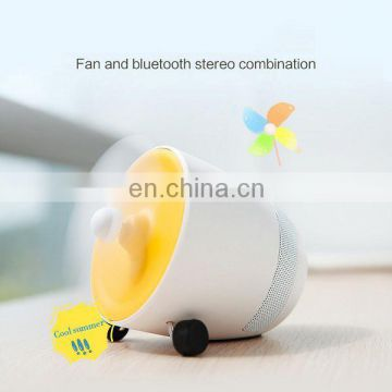 New portable 2 in 1 bluetooth speaker with mini fan,wireless bluetooth speaker for Android and IOS