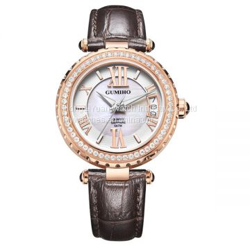 Calf Leather Lady Watch