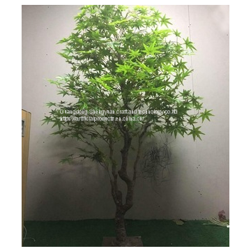 looking natural leaves artificial maple tree steel structure