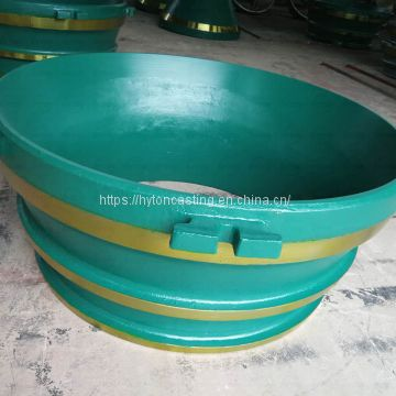 accessories concave head liner of Mn18Cr2 suit gp300s metso nordberg cone crusher
