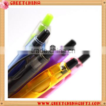 Promotional Pen, Hotel Gifts Gourd Color Transparent Barrel Advertising Plastic Ball Point Pen