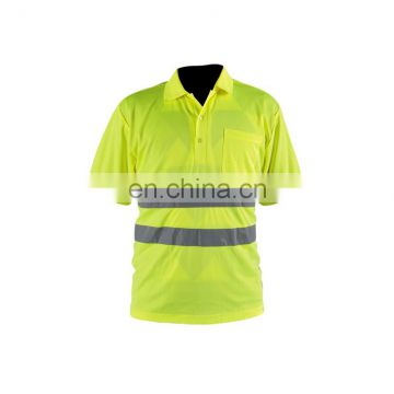 cheap 65%polyester 35%cotton micro mesh fabric safety reflective t-shirt