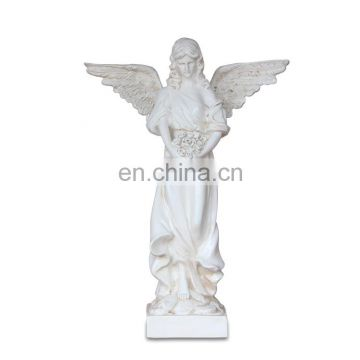 unpaind big resin angel statue
