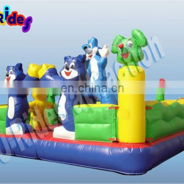 cat theme inflatable fun city combo games