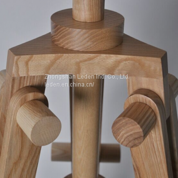 Rubber Wood Material Flooring Lamp light