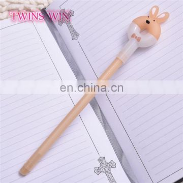the most beautiful korean school stationery supplies different types of cute animal head design plastic pen gel ink pens set