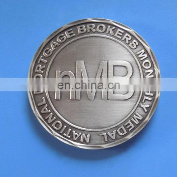 national mortgage logo embossed antique copper challenge coin