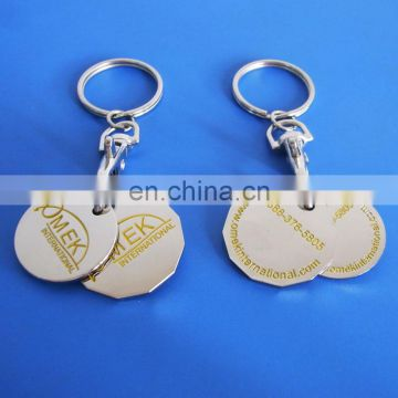 New logos Canadian lonnie and quarter Token coin keychain