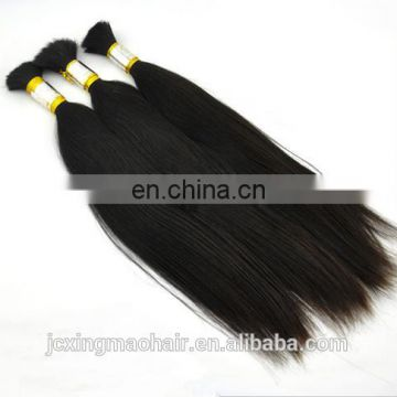 Directly Factory Price Natural Looking Unprocessed No Chemical unwefted bulk virgin hair for braiding