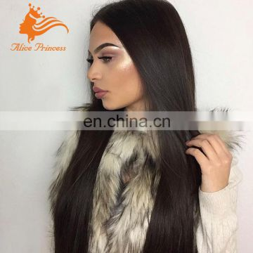 Silky Straight 1B Color Full Lace Wig Virgin Brazilian Hair Full Lace Wigs