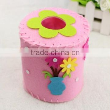 Smart attractive 3D rounded cloth pumping paper box babies toys