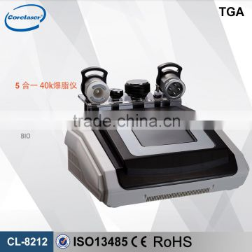 5 In 1 Best Selling Ultrasound Cavitation 500W /cavitation Rf/ Body Slimming Machine Fat Reduction