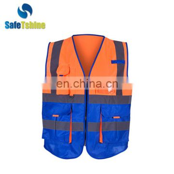 High visibility reflective fluorescent polyester cheap safety vest