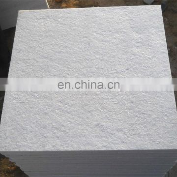 flamed of white quartiz stone tiles