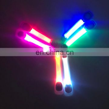 Magnetic pvc led elastic reflective light up armband for jogging
