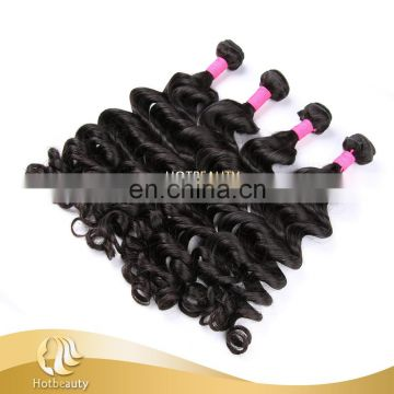 Body wave natural black color brazilian hair 100%